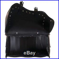 2Pc HEAVY DUTY PVC SADDLE BAGS FOR HARLEY SPORTSTER DYNA SOFTAIL T/Over Style
