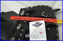 ACE Motorcycle Saddlebags Studs XL Universal Throw Over Saddle Bags 18x13x6