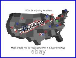 BC Complete Saddlebag Latch Kit Hardware Harley-Davidson Road King 1994-2013