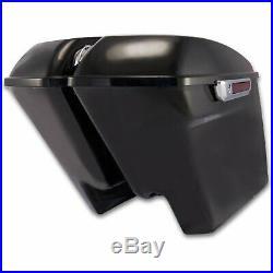 Bagger Brothers Complete 4.5 Extended Saddlebag Kit Vivid Black'96-'13 FL