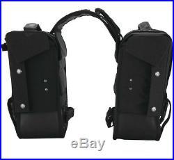 Burly Brand B15-1002B Voyager Luggage Black Leather Throw Over Saddlebags Harley