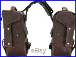 Burly Brand Throw Over Brown Leather Saddlebags Harley Indian Universal Custom