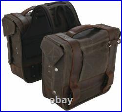 Burly Voyager Throw Over Saddlebags Dark Oak B15-1002D