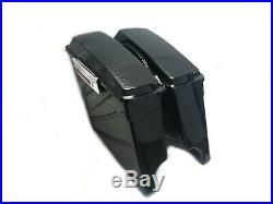 Complete 4 Extended Saddlebags w Dual 6x9 Speaker Lids for 94-14 Harley Touring