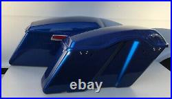 Complete Hard Touring Saddlebags Superior Blue for Harley Touring Models