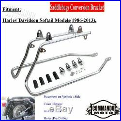 Complete Saddle Bags Conversion Bracket For Harley Davidson Softail 1986-2013