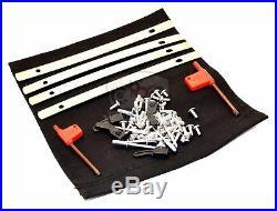 Complete Saddlebag Hardware Metal Latch Covers Reflectors fits Harley 1993-2013