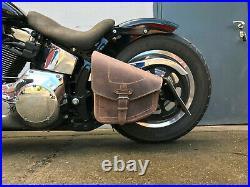Complete Set Swing Bag + Tool Roller Odin Braun Brown Saddlebag