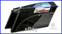 Complete Vivid Black Stock Saddlebags For Harley Road Glide Road King 1994-2013