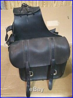 Genuine Harley Davidson leather throw over saddle bags