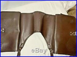 Genuine Vintage Honda Throw Over Saddle Bags Brown Leather Rare Nice! Motorcycle