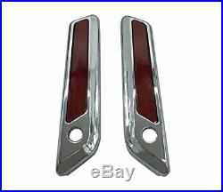 HTT Complete One Touch Saddlebag Hardware Kit with Chrome Latch Covers Reflec