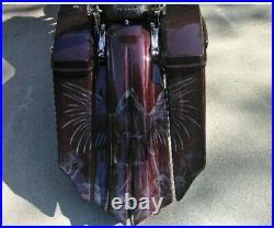 Harley Davidson 7 Extended Saddlebags, Rear Fender Complete Touring 2014-2019