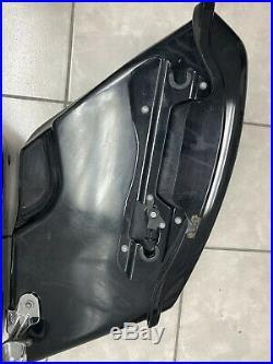 Harley Davidson FLD Dyna Switchback COMPLETE Saddlebags with Hardware Vivid Black