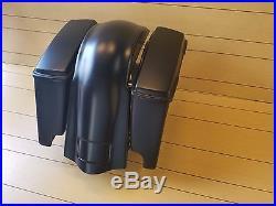 Harley Davidson Softail 4stretched Saddlebags, Lids & Rear Over Overlay Fender