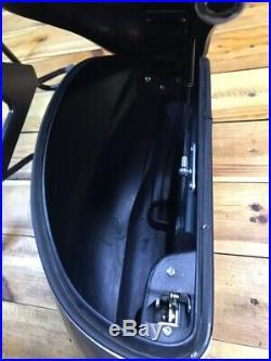 Harley-Davidson V-Rod Chrome saddle bags complete with mounting brackets OEM