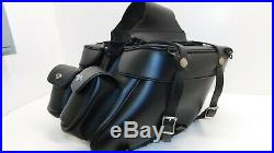 Harley Dyna Softail Sportster Leatherworks Leather Saddlebags Throw Over