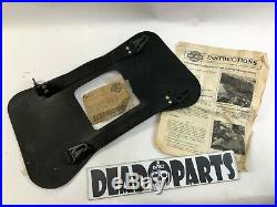Harley NOS 91018-91 fxr throw over leather slant saddlebag yoke strap mount