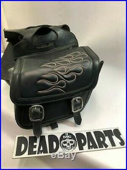 Harley Saddlemen small med flames throw over saddlebags bags Sportster Dyna