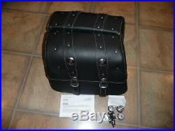 Indian Scout genuine OEM black leather saddlebags complete 15-20 latches spools