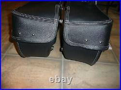 Indian black soft saddlebags OEM Chief Vintage Dark Horse RM SF complete'14-21
