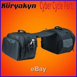Kuryakyn Black Momentum Outrider Throw-Over Saddlebags 5209