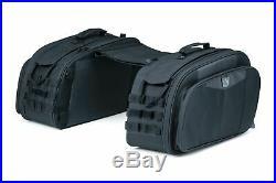 Kuryakyn Black Momentum Throw-Over Saddlebags Bags Metric Harley Softail Dyna XL
