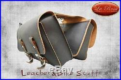 LaRosa Harley Sportster/Iron883/1200XL Throw-over Saddlebag withFuel Bottles