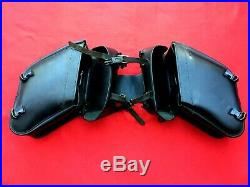 Leatherworks #112 Harley Cowhide Saddlebags Universal Throw Over Dyna Sportster