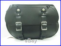 Leatherworks Style 119 Leather Saddlebags (aerci-119) Throw-over Fitment