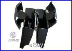 Matte Black 4 Complete Stretched Hard Saddlebag For Harley Touring Models 94-13