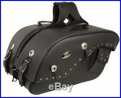 Medium Throw Over Waterproof Saddle Bag for Harley Honda Series Bikes Gun Holder
