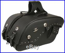 Medium Throw Over Waterproof Saddle Bag for Harley, Honda Series Bikes with Studs