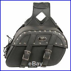 Medium Zip-Off Pvc Studded Throw Over Saddle Bag (10.5X15X6X18)