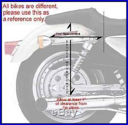 Medium Zip-Off Slanted Throw Over Saddle Bag for Harley, Honda Bikes 13 x 10