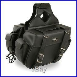 Milwaukee Performance Black Medium Zip-Off Throw Over Two Strap Saddle Bag57403