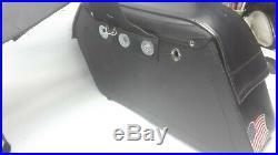 Motorcycle Saddlemen Cruisn Slant Face Pouch Throw Over Saddlebag 3501-0384