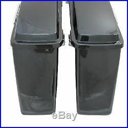 Mutazu Black Pearl Complete Hard Saddlebags for Harley Touring Models FLH FLT