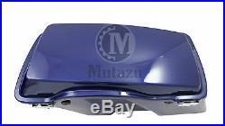 Mutazu Complete Fat Ass Wide Cobalt Blue Hard Saddlebag Fits Harley Touring Road