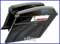 Mutazu Complete Stretched Extended Hard Saddlebags 4 Harley Davidson HD Touring