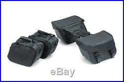 NEW Kuryakyn Bandito Throw-Over Saddlebags Black Universal