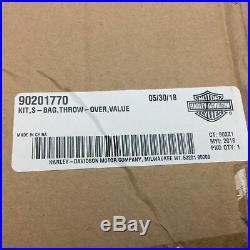 NOS Genuine Harley Davidson Black Standard Line Large Throw-Over Saddlebags