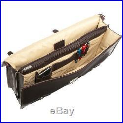 Piel XXL Leather Flap-Over Portfolio Saddle Non-Wheeled Business Case NEW