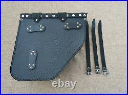 Poseidon Black Complete Set Saddle Bags HD Dynabob Streetbob Shovelhead Harley
