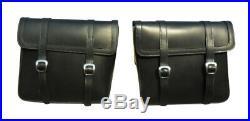 Saddlebags Harley-Davidson FatBob FXDF Leather Saddlebags with complete mounts
