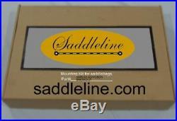 Saddleline Harley Davidson breakout 3 buckled saddlebags with complete mounting
