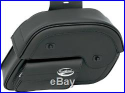 Saddlemen Cruis'N Slant Large 17 Throw-Over Universal Saddlebags with Face Pouch
