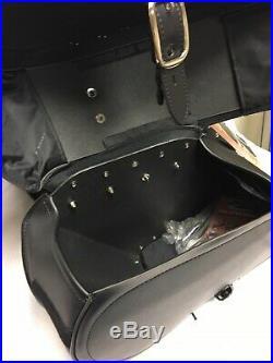 Saddlemen Desperado Teardrop Black Throw Over Saddlebags With Shock Cutaway