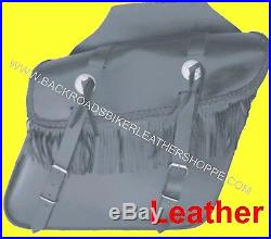 Throw Over Slanted Saddlebag withquick release buckle & Fringe 12.5x9x6 in