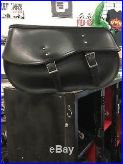 Used Leather Throw Over Large Saddlebags